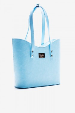 Torebka Shopper Simple Blue Pu
