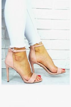 Delikatne Różowe Sandały Klasyka 7668