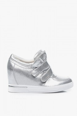 Sneakersy Pin High Top Silver