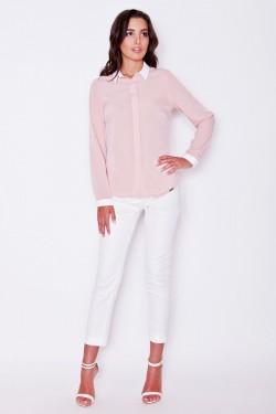 Koszula White Collar Pink