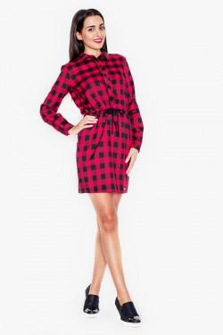Sukienka Check Black/Red
