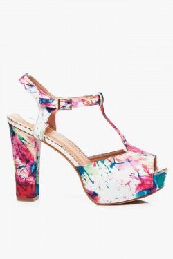 Sandały na słupku Aquilla Flowers