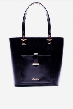 Torebka Shopper Pocket Black Pu