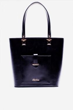 Torebka Shopper Pocket Black Pu
