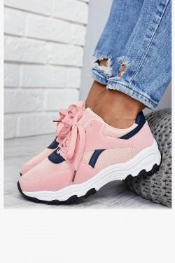 Trampki Różowe Adidasy Granatowe Wstawki 7872