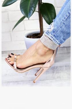 Miedziane Sandały Opalizujące Cyrkonie 7340